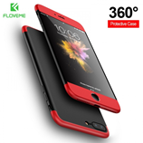 Red 3 in 1 Combo 360 Degree Full Protection iPhone Case